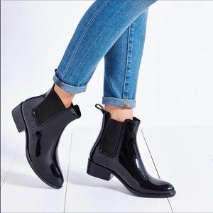 Sam Edelman Tinsley Black Ankle Rain Boots Size 7